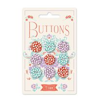 400020 Tilda LazyDays Buttons 0,6 in (15mm) April 2019